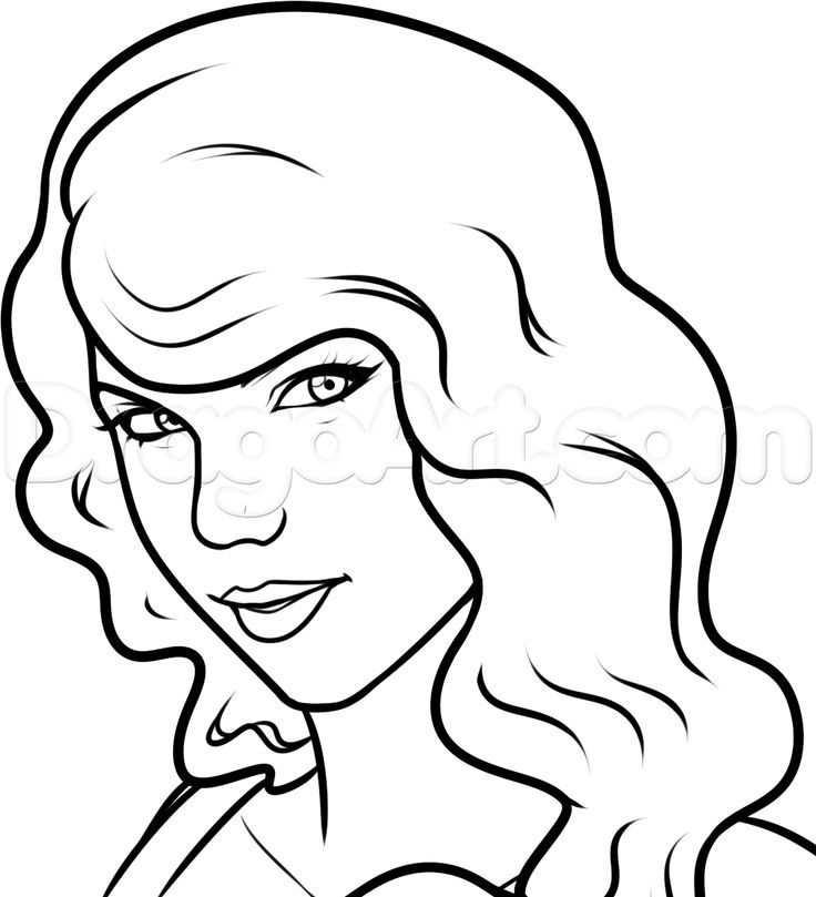 Taylor Swift Coloring Pages Printable Taylor Swift Coloring Taylor Swift Drawing Selena Gomez Drawing Taylor Swift