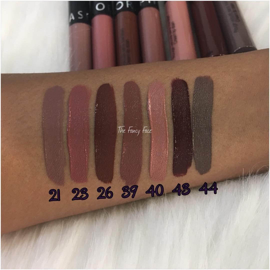 Some New Shades Of Sephora Cream Lip Stain Makeup Swatches