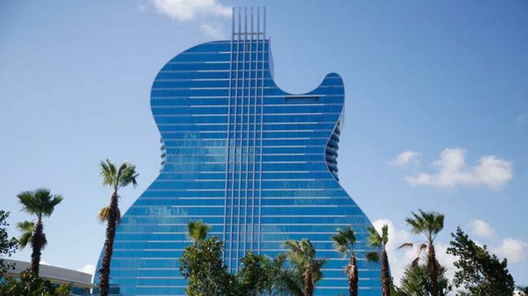 Unique Giant Guitar Shaped Hotel Opens In Us With Images Hard