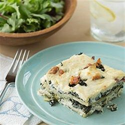 One Of The Easier Lasagna Recipes With Cream Cheese, Provolone And Cottage  Cheese, Bacon