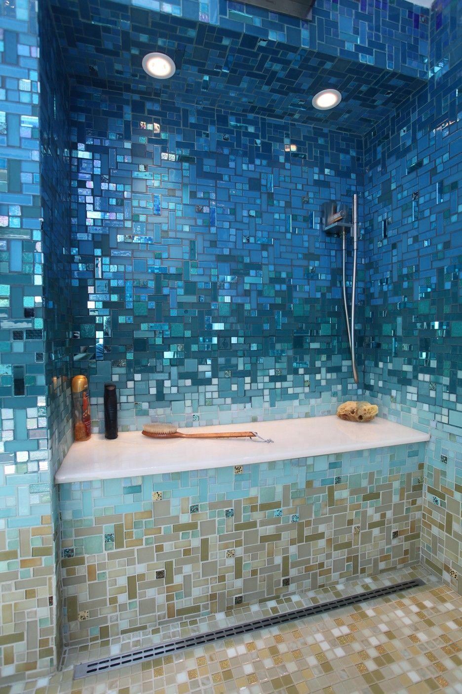 Caribbean Blend Gradient Beach Theme Bathroom Tropical Bathroom Bathroom Colors