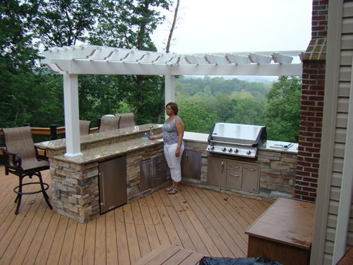 back deck with outdoor kitchen outdoor kitchen grill appliances patio ideasbackyard - Outdoor Kitchen Patio Ideas
