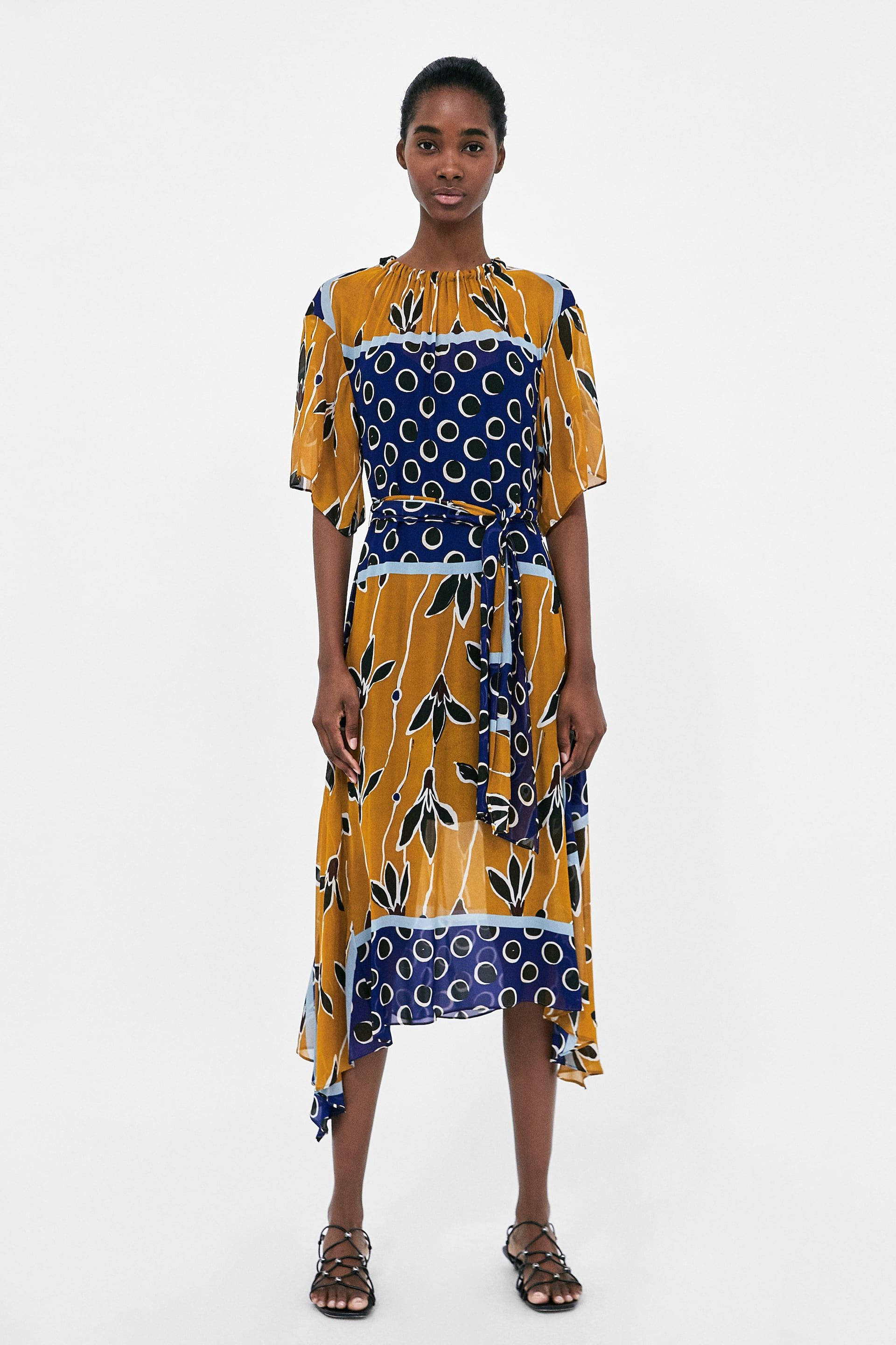 77a22794aea9 ZARA - WOMAN - MIDI DRESS WITH BELT. Find this Pin and more on Zara Spring  2018 collection ...