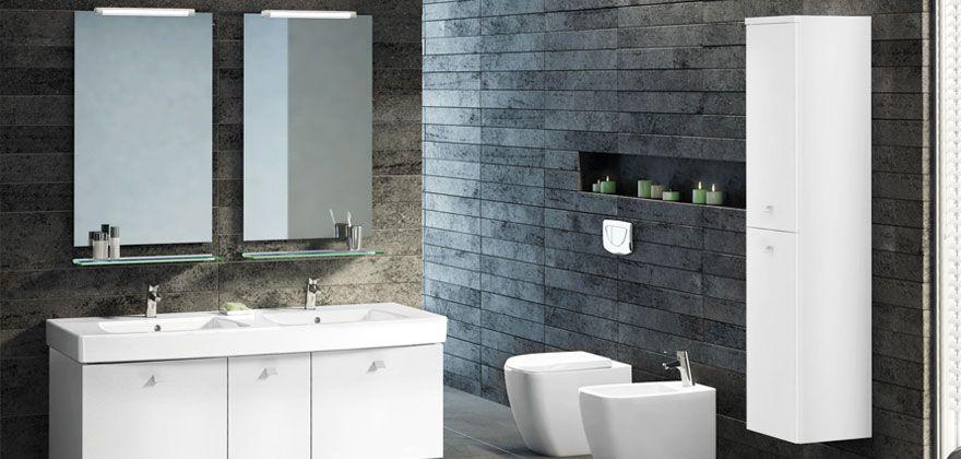 ideal standard lavabo top 21 di forma rettangolare con doppio ... - Lucido Cabinet Grigio Lavandino
