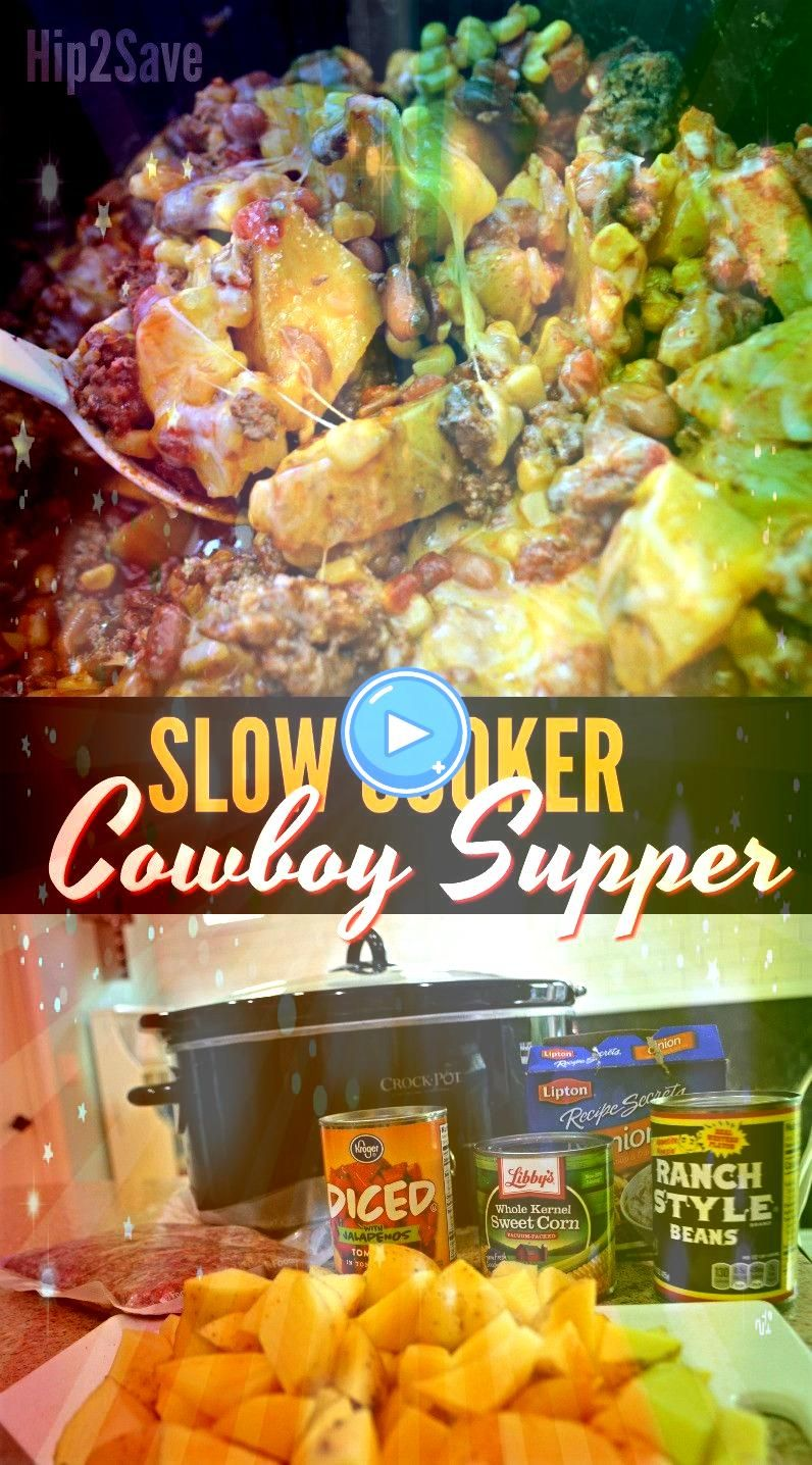 Cooker Cowboy Supper Easy Weeknight Meal ideaSlow Cooker Cowboy Supper Easy Weeknight Meal idea Looking for an easy crock pot recipe This Crockpot Pepper Steak Recipe is...