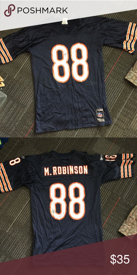 new product bc878 11229 Reebok Chicago Bears jersey Vintage Marcus Robinson #88 ...