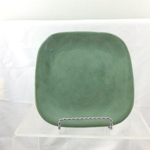 Serving plate Small pottery saucer breakfast by EastburnOriginals