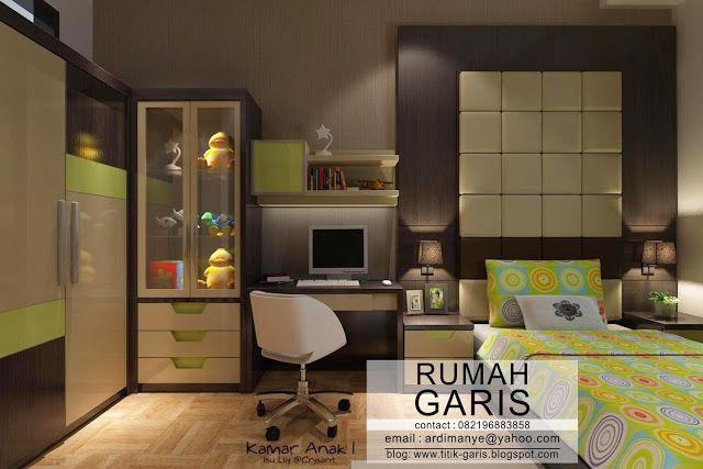 Desain interior kamar anak cewek warna hijau also home decor rh pinterest