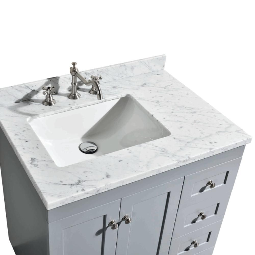 Eviva Acclaim 30 5 In W X 22 In D X 34 In H Vanity In Grey With