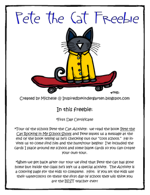 Pete the Cat FREEBIE | For the love of Pete | Pinterest