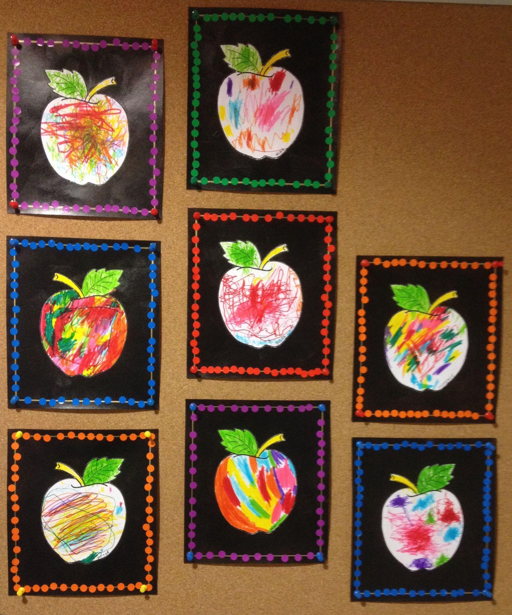 Arts visuels la maternelle pommes pinterest - Fruits automne maternelle ...