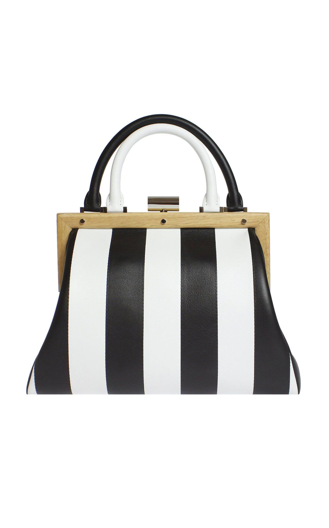 209e63f0778 L'Attelage Striped Leather Bag by Perrin Paris SS19 | Accessories in ...