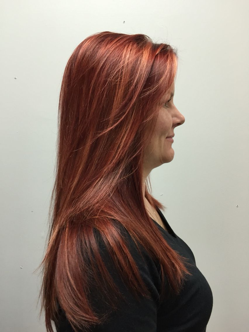 Hair Color Cut By Heidi Cassone Long Hair Stunning Cinnamon Red