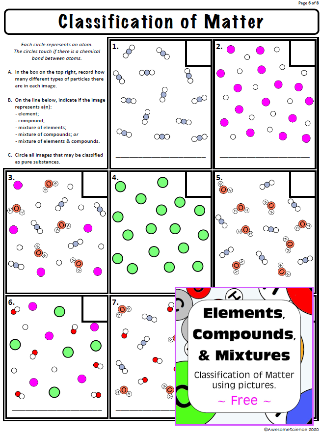 Chemistry Classification Of Matter Worksheet Answers ...