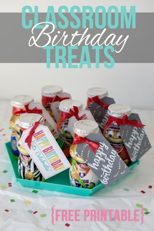 Classroom Birthday Party ~ Quick easy classroom birthday treats class