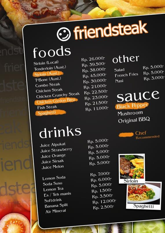 Menu design ideas google pinterest for Food bar menu
