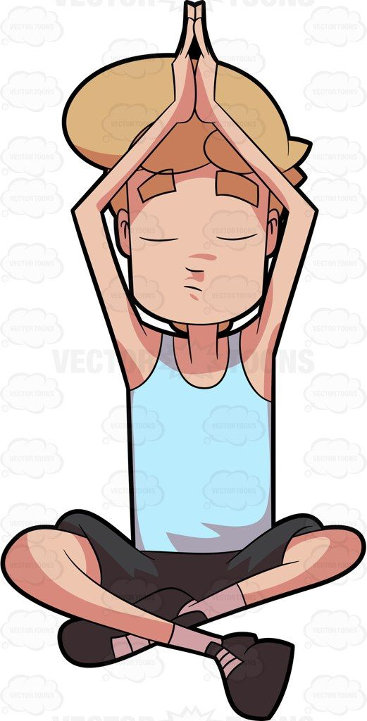 a man in process of meditating vector illustrations pinterest