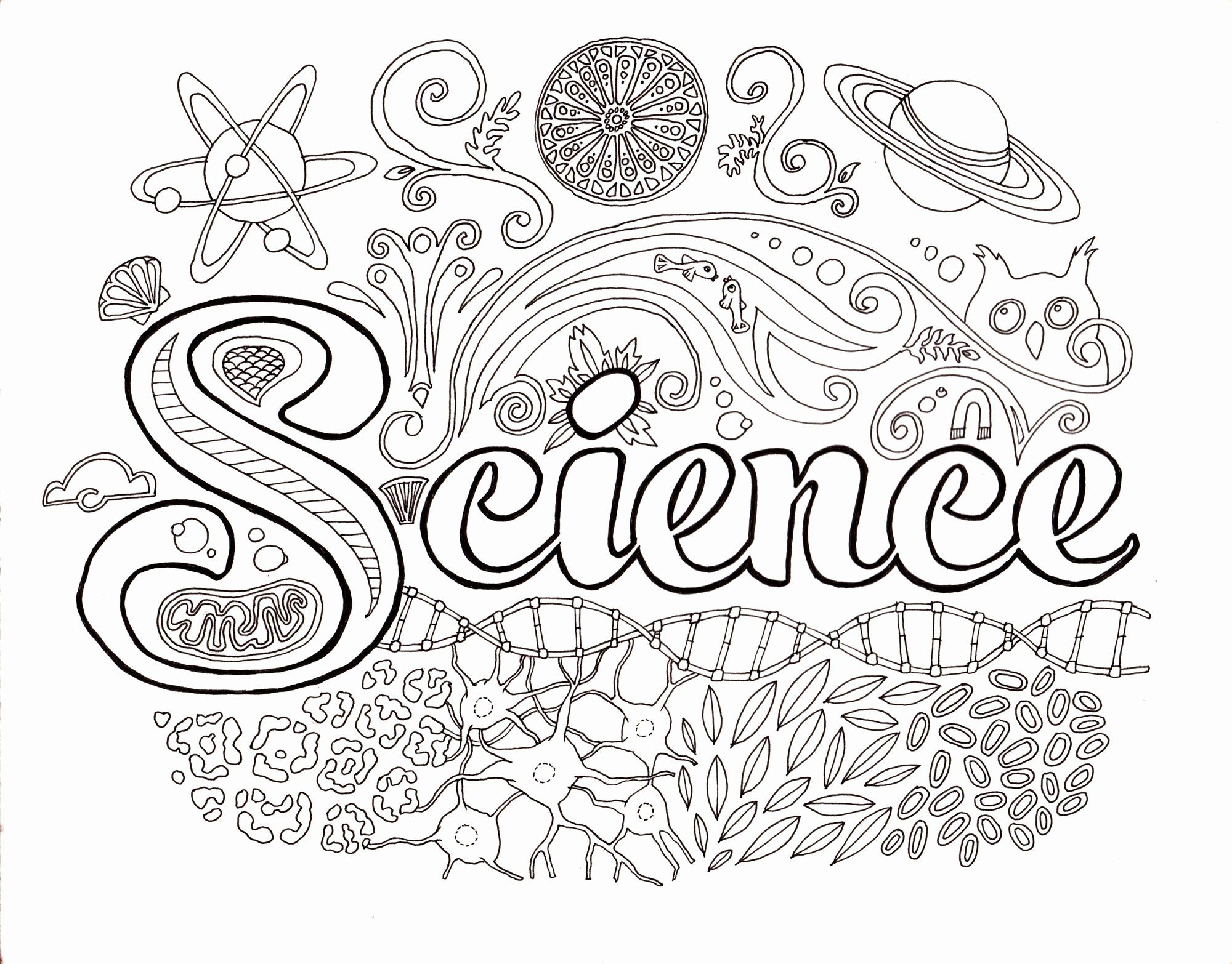 Science Coloring Pages Printable In