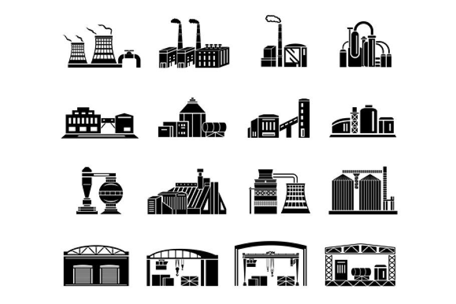 Factory Free Vector Icons Designed By Linector Vector Icon Design Icon Design Vector Free