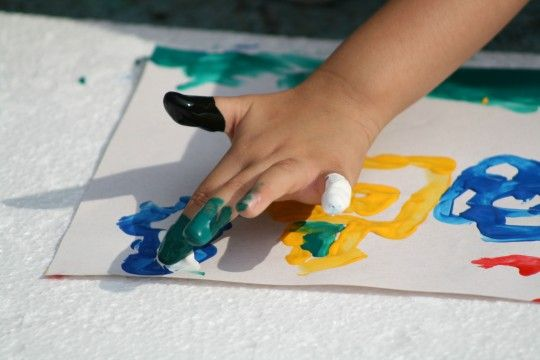 Image result for messy fingers art class