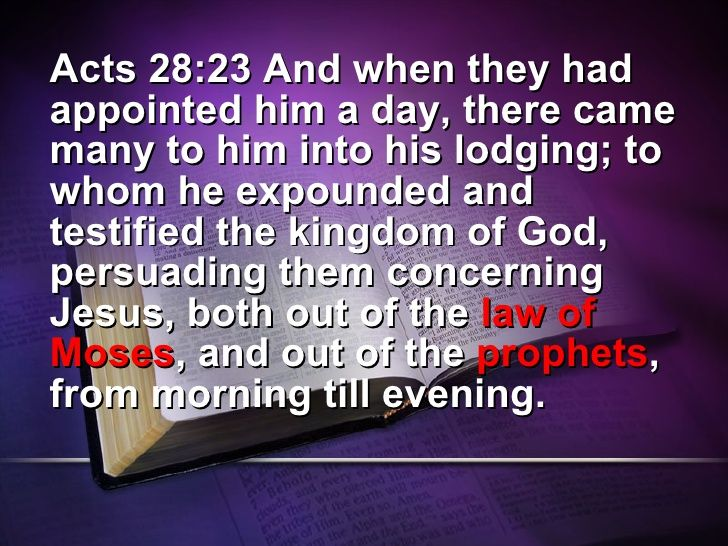 Image result for acts 28:23