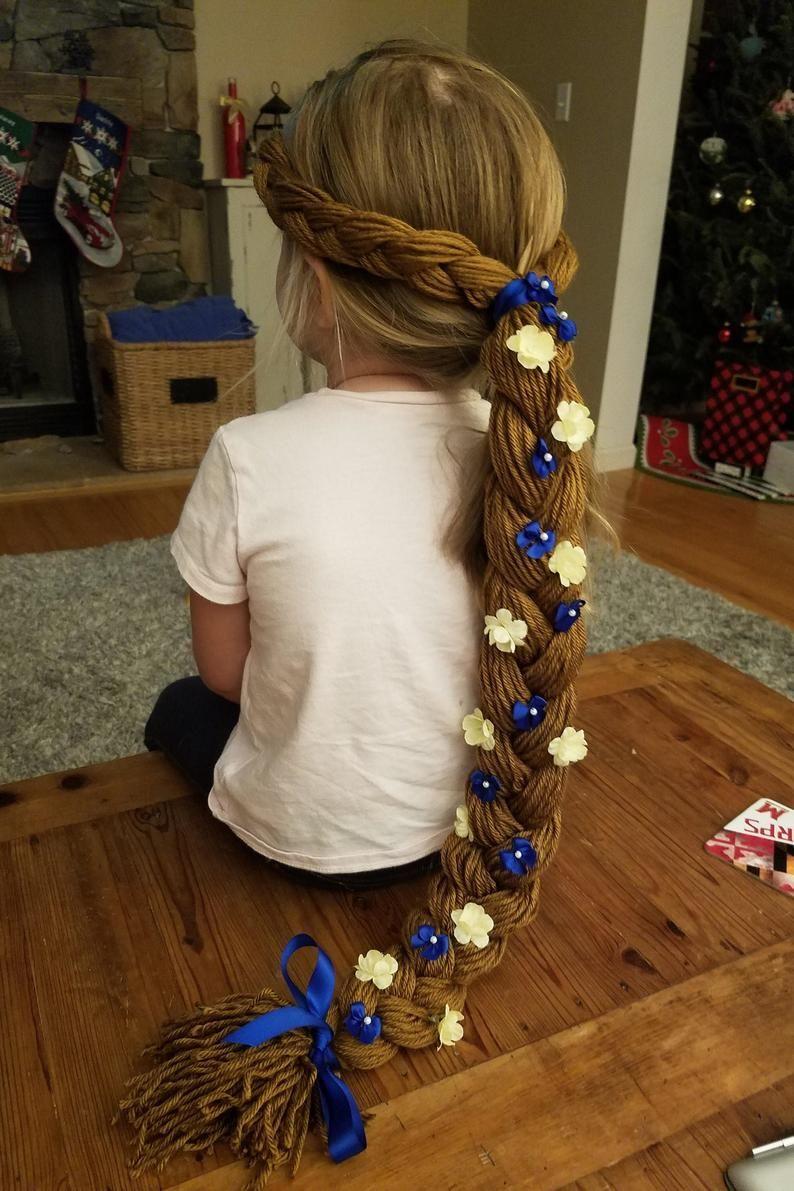 Cinderella-inspired Princess Yarn Braid