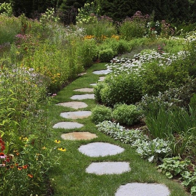 Photo of Parterre Garden Services on Instagram Love the simple way this goshen stone path…