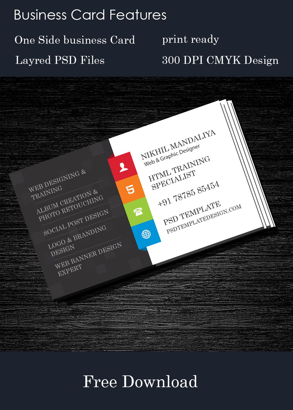 Free business card download httppsdtemplatedesign free business card psd template for allnew corporate design business cardnew and latest technology designfree website psd alramifo Image collections