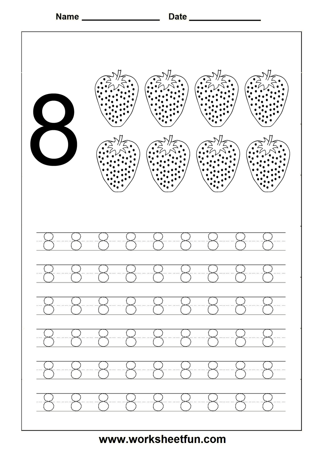 Numbers tracing worksheets 1 for kindergarten Printable Coloring – Tracing Numbers Worksheets for Kindergarten