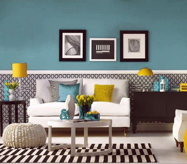 Paleta De Colores De Hoy Amarillo Y Azul Decoración