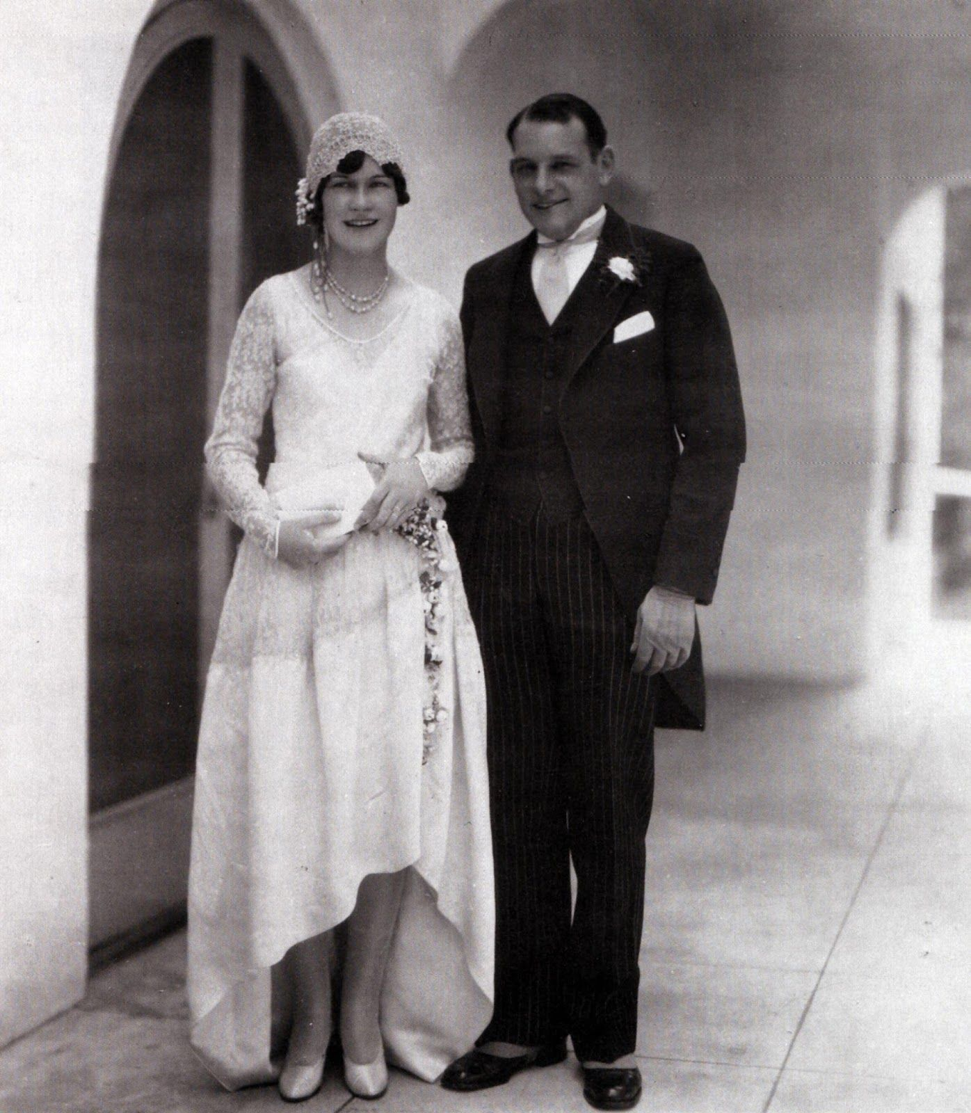 1920s Vintage Wedding Ideas: 1928 Bride And Groom. In 2019