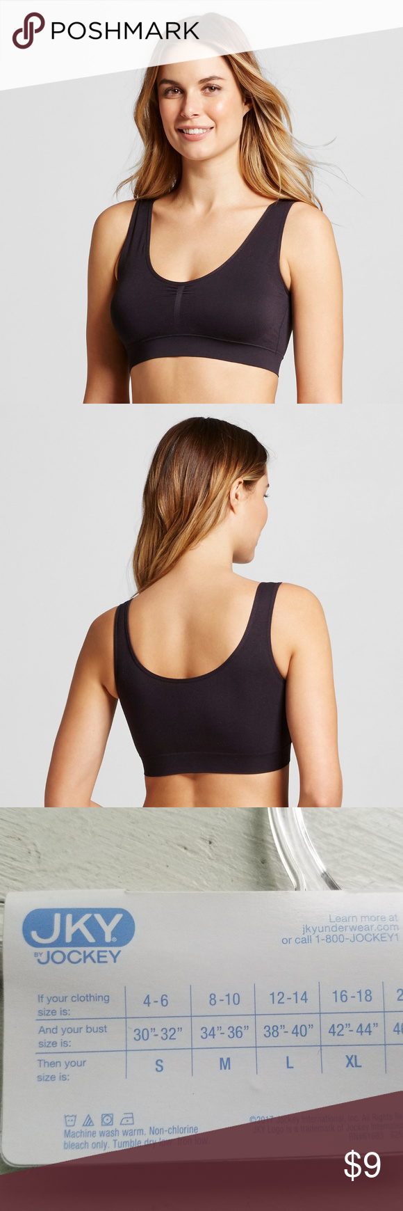 8694cebc34b238 JKY Jockey Women s Seamfree Tank Strap Bralette Material  92.0% Nylon and  8.0% Spandex Features  Pullover Neckline  Scoop Sheerness  Opaque Underwire  Type  ...
