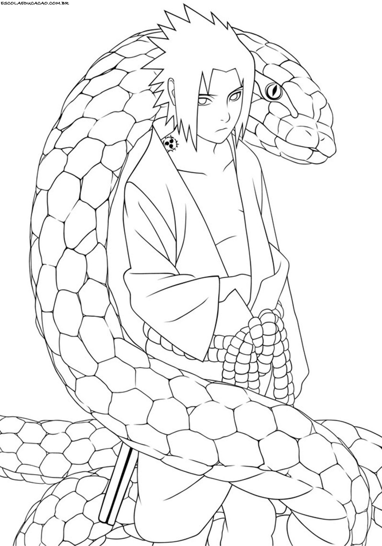 Desenhos Para Colorir Do Naruto Sasuke Orochimaru Desenhos