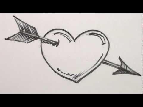 3c9d88165 How to Draw a Heart with Arrow - Heart Drawing Lesson - MAT - YouTube