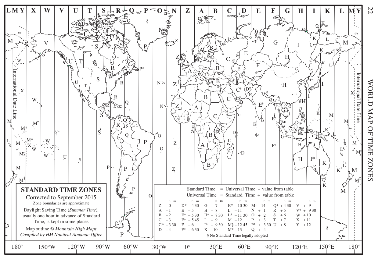 World Maps With Time Zones