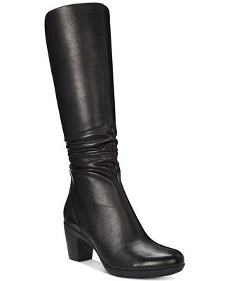 Clarks Artisan Women's Lucette Coco Tall Dress Boots $159 on macy's sale weds