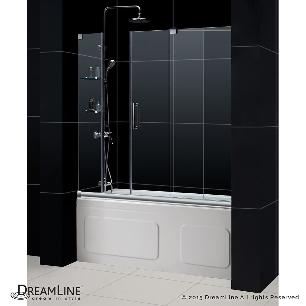 Bath Authority Dreamline Mirage Frameless Sliding Tub Door