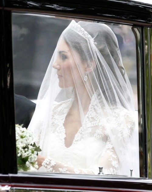 Catherine Middleton (later The Duchess of Cambridge) on her wedding ...