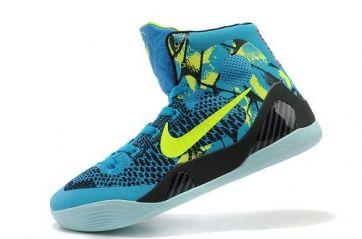f24392df81c Nike Kobe 9 Elite Blue Yellow Black Womens Shoes  76.98