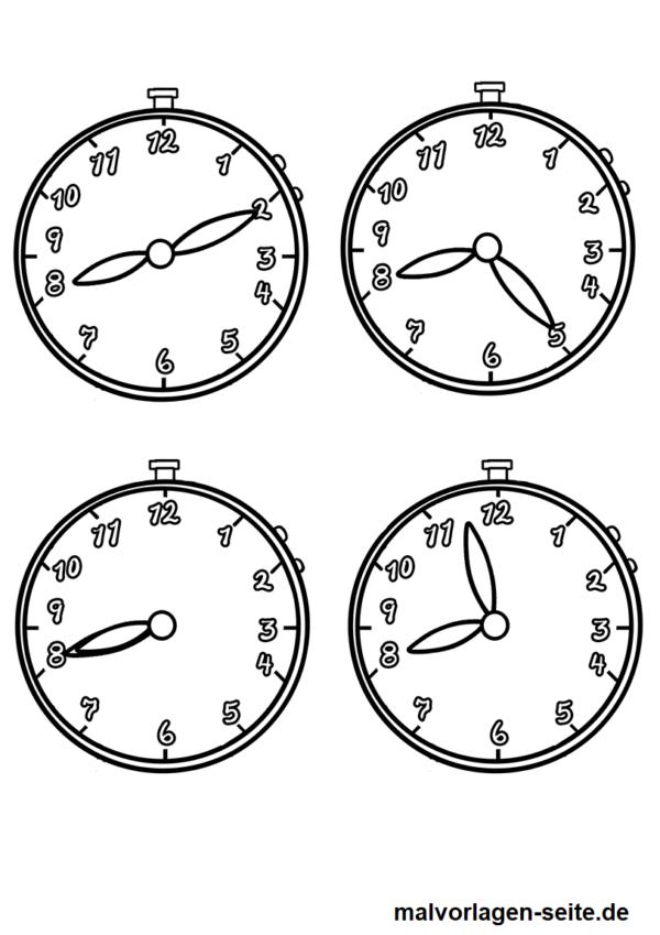 Malvorlagen Uhr & Uhrzeiten   Pinterest