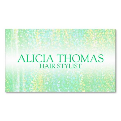 Holographic Hair Stylist Business Card Template Card Templates