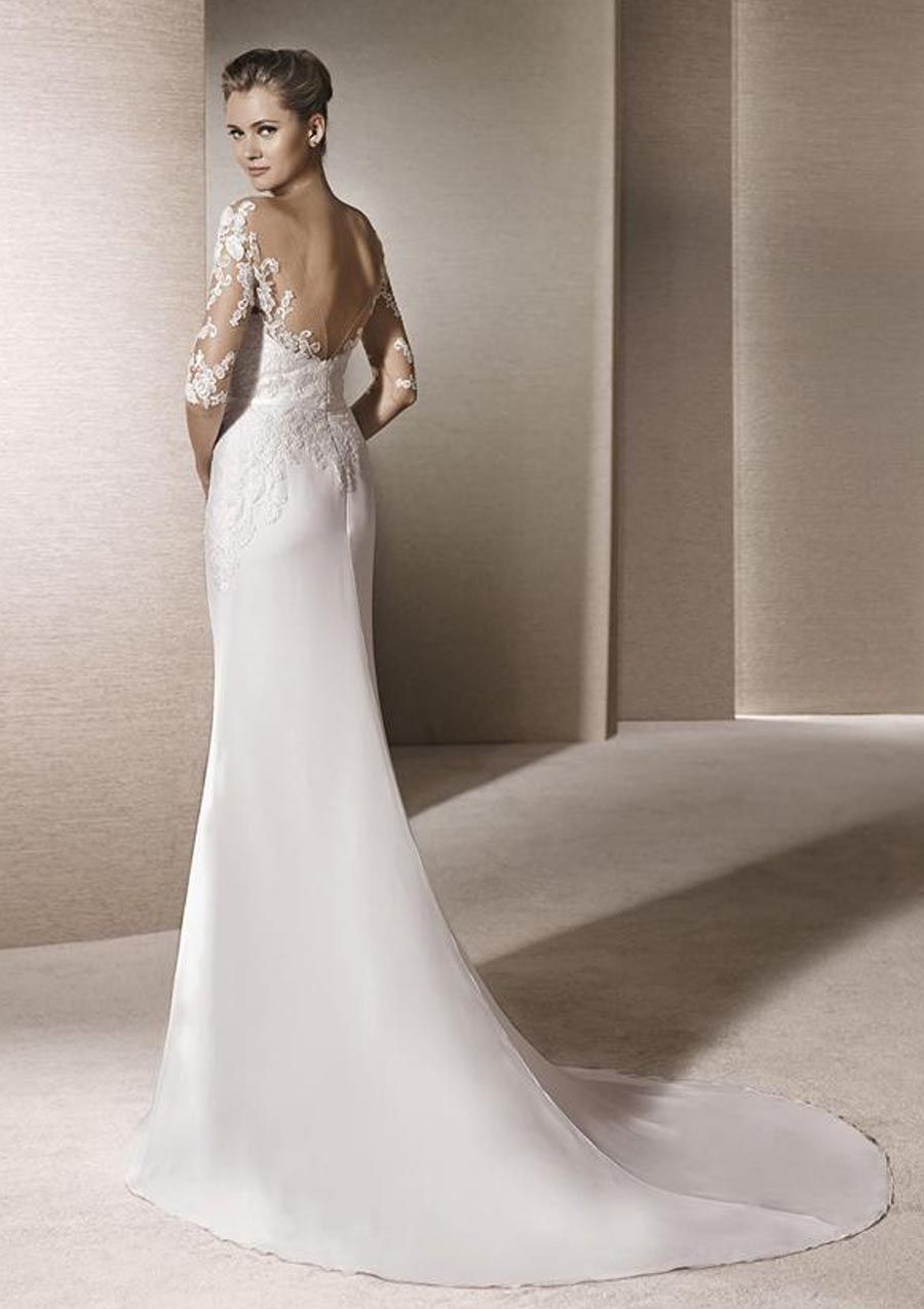 Model Trouwjurk.Trouwjurk Met Open Rug La Sposa Pronovias Fashion Group Trouwjurk