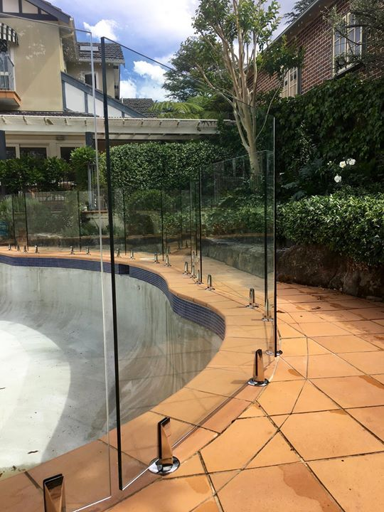 This Tricky Install Takes A Lot Of Work Hardware Patience And Perfectionism Luckily These Are Our Pool Landscape Design Glass Pool Fencing Pool Landscaping