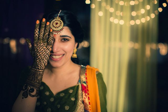 Bridal Mehndi In Jalandhar : A stylish sikh affair in jalandhar with saffron details : amarjeet