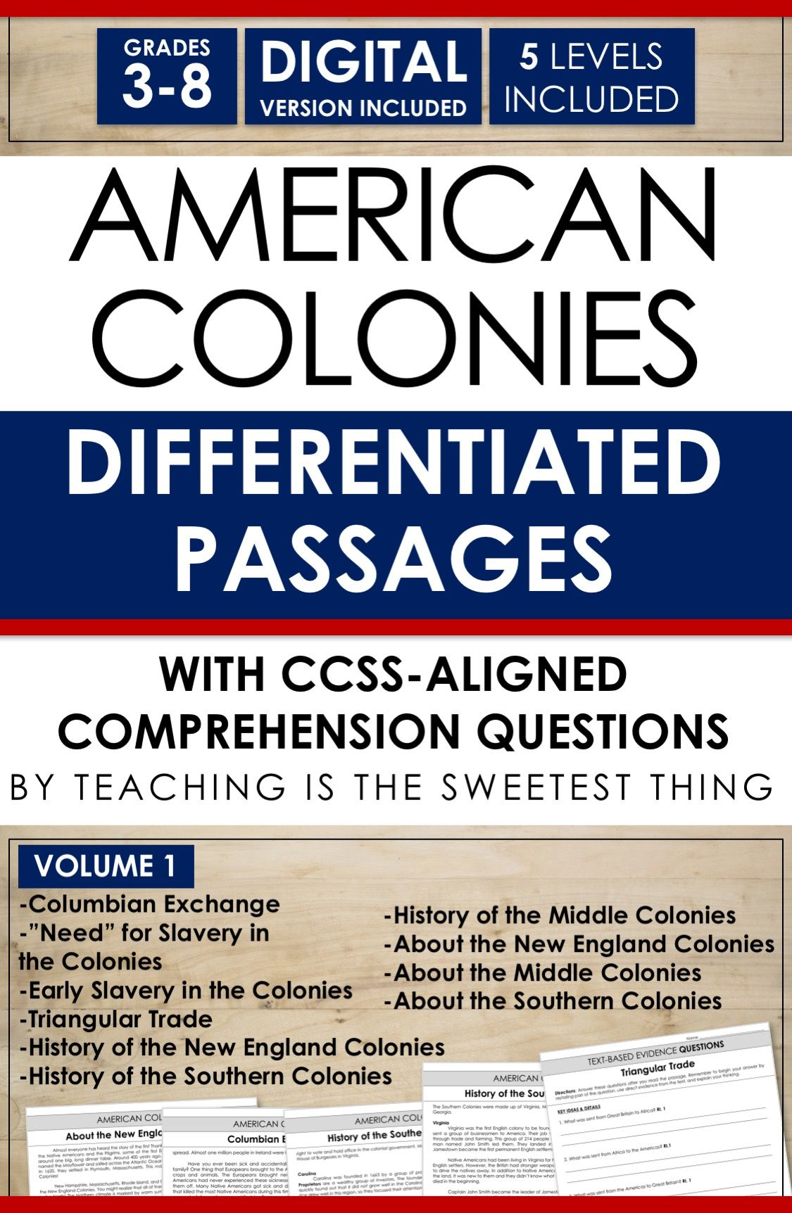 Differentiating Instruction Integrating Social Studies Into Reading And Addressing Standards Like Common Teacher Essential American Colonies Reading Lessons [ 1724 x 1125 Pixel ]