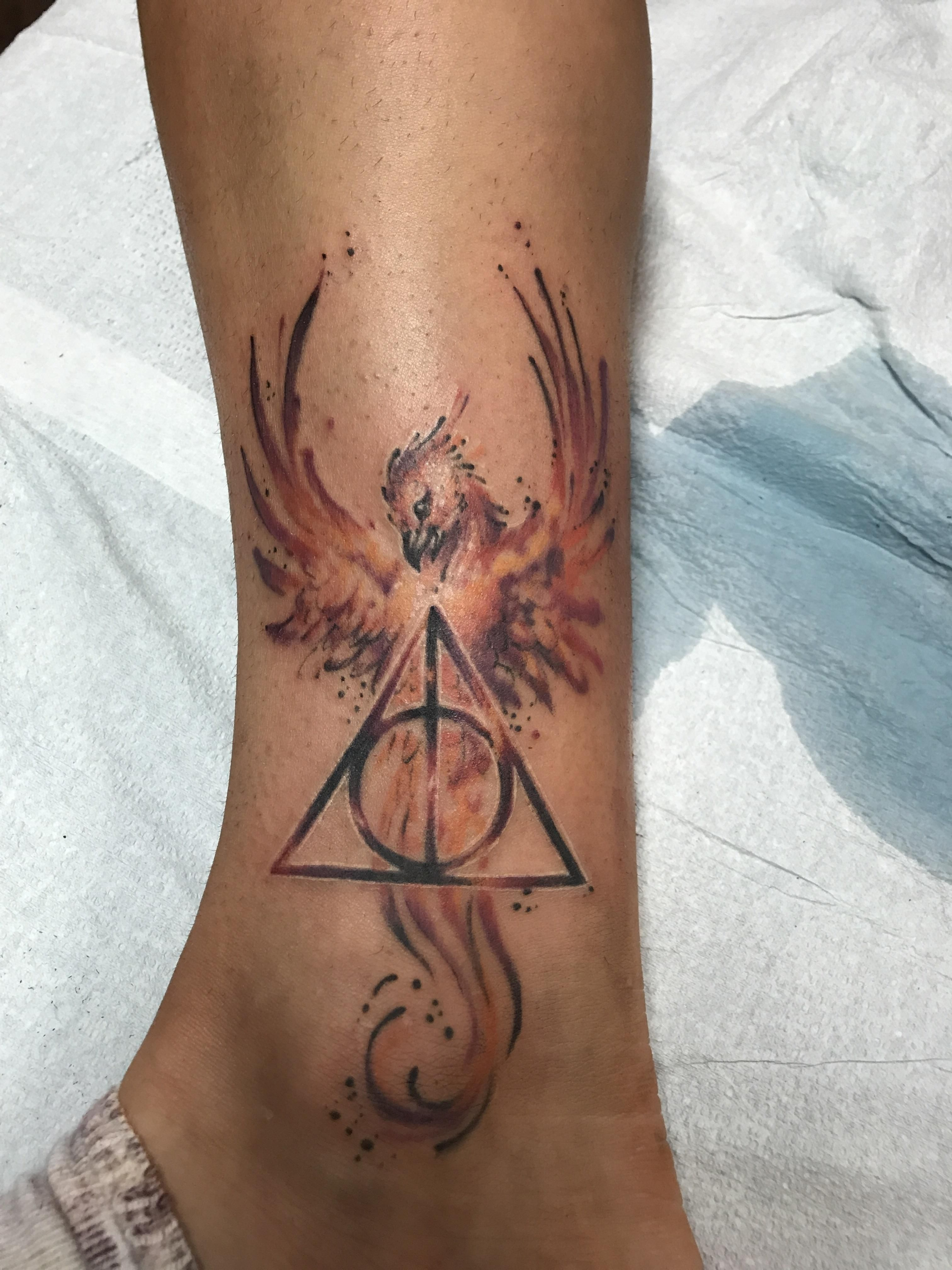 This harry potter tattoo my girlfriend got today tattoo by invidia