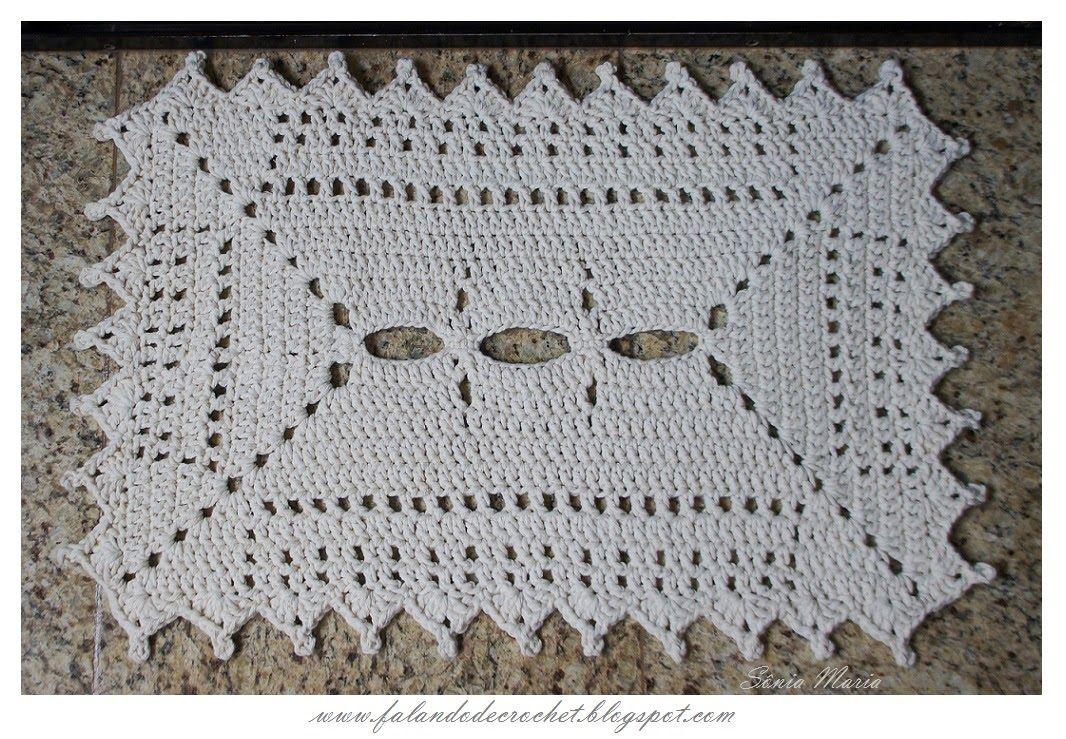 Tapete Quadrado De Croche - Falando De Crochet Tapete De Barbante Em Croche Elisete Trico E
