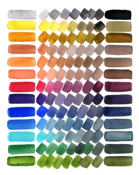 It shows many (but not all) of the colors that can be made from a ...