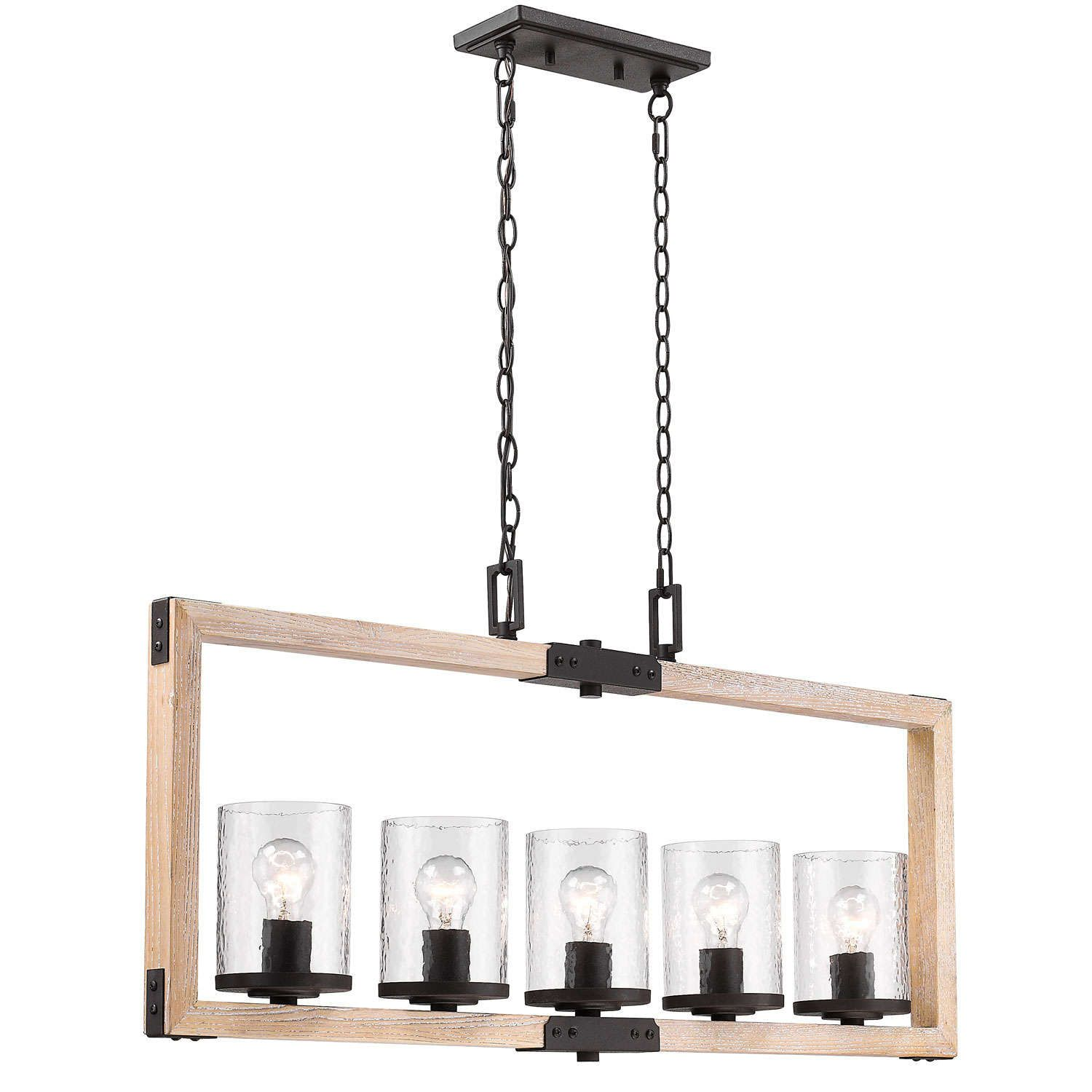 This 5 light Linear Pendant from the Eastwood collection by Golden ...