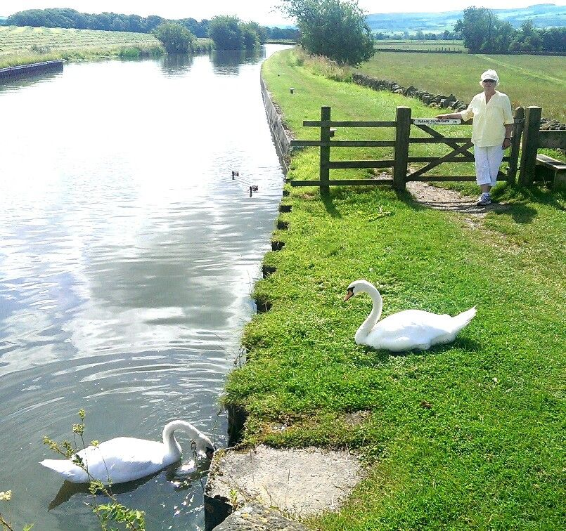 Hiking Along The Leeds And Liverpool Canal Near Skipton